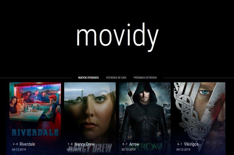 Movidy. Series y peliculas online