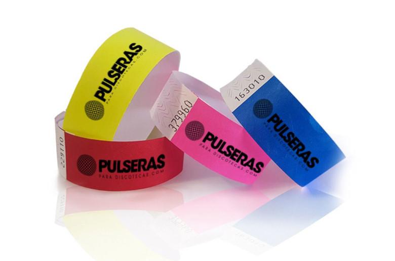 Pulseras Tyvek personalizadas