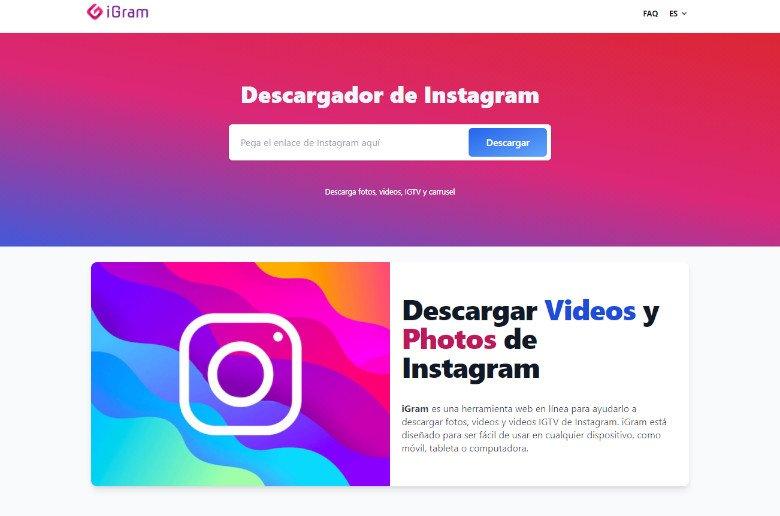 Descargar contenido instagram